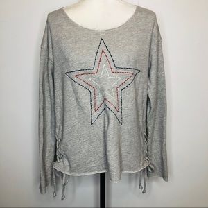 Sundry Gray Sweatshirt Size L/3 With Side Ties